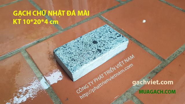 Gạch bê tông chữ nhật đá mài lót sân vườn vỉa hè