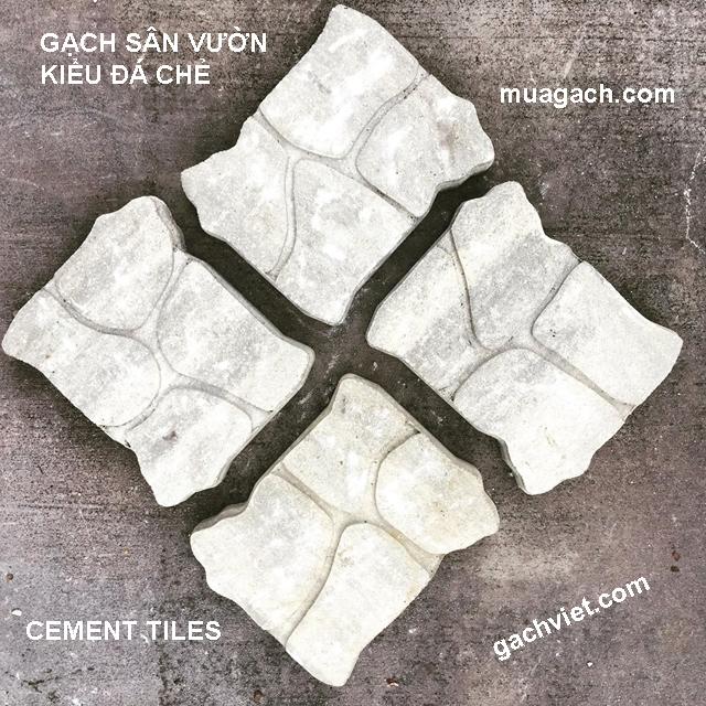 Gạch xi măng đá vỡ DV01, gạch lót sân vườn, gạch trang trí, gạch lát sân ngoài trời, gạch tự nhiên2