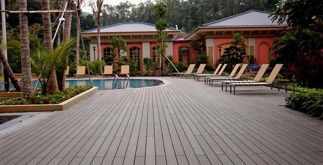 Sàn nhựa gỗ lát ngoài trời, sàn bể bơi, sàn gỗ cho hồ bơi, sàn nhựa giả gỗ sử dụng ngoài trời