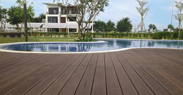 Sàn nhựa gỗ lát hồ bơi, sàn nhựa ngoài trời, sàn gỗ nhựa chống trơn, sàn nhựa gỗ chính hãng nhật bản